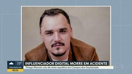 Influenciador digital morre em acidente com moto aquática em Campos