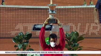 Os pontos finais de Novak Djokovic 2 x 0 Diego Schwartzman pela decisão do Masters 1000 de Roma