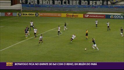 Botafogo-PB joga bem, mas fica no empate com o Remo