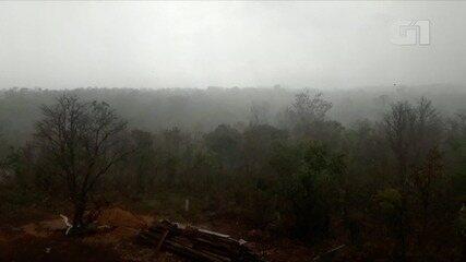 Morador de grava chuva na serra de Taquarçu