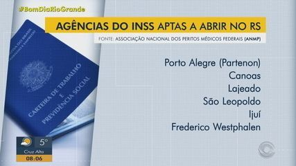 Usuários do INSS com agendamento são atendidos para perícia em Porto Alegre