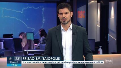 Suspeito de matar pai de vice-prefeito de Itaiópolis é preso