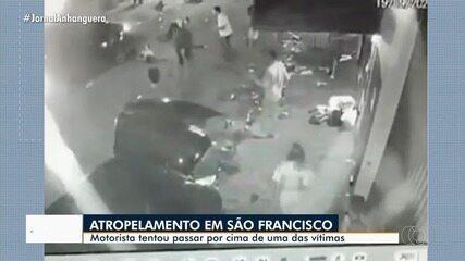 Polícia apura caso de homem que atropelou duas pessoas; vídeo mostra caso