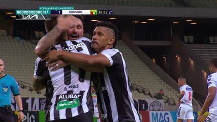 Os gols de Ceará 5 x 1 Brusque, pela 4ª fase da Copa do Brasil