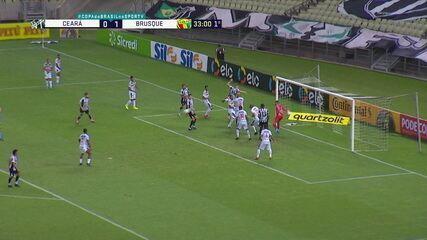 Melhores momentos de Ceará 5 x 1 Brusque, pela 4ª fase da Copa do Brasil