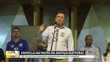 TRE retoma nesta quinta (24) o julgamento do prefeito Marcelo Crivella