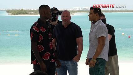 Veja como foram as encaradas do UFC 253 após entrevista coletiva