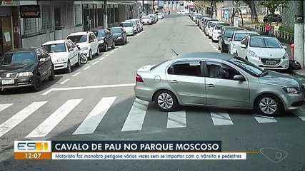 Motorista fez manobra perigosa várias vezes em Vitória