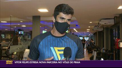 Vitor Felipe estreia nova parceria no vôlei de praia