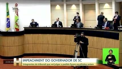 Tribunal que vai julgar impeachment do governador de SC foi escolhido ontem