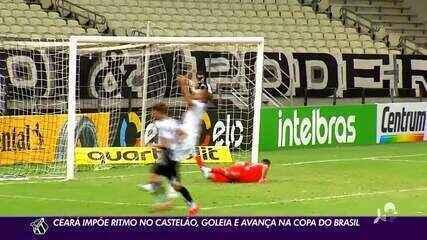 Ceará supera 1º tempo difícil, goleia Brusque e avança na Copa do Brasil