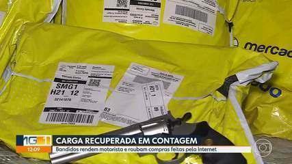 Bandidos rendem motorista e roubam compras feitas pela Internet