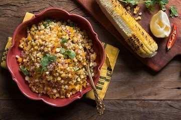 Salada de milho grelhado