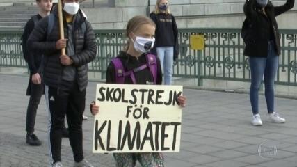 Greta Thumberg volta às manifestações pelo meio ambiente