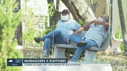 Três cidades da região de Ribeirão Preto têm mais eleitores do que habitantes