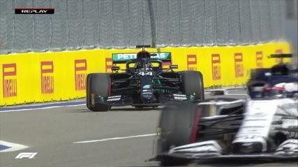 Hamilton sofre punição de 5 segundos por treinar largada em local proibido no GP da Rússia