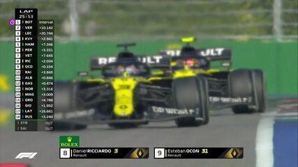 Ricciardo passa Ocon e assume a nona posição no GP da Rússia