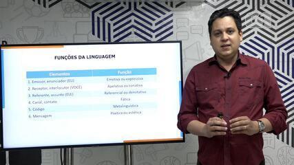 Aula virtual com professor de redação dá dicas sobre funções da linguagem