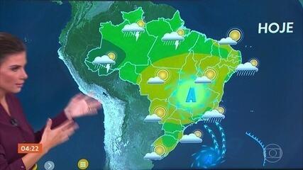 Veja a previsão do tempo para esta terça-feira em todo o país
