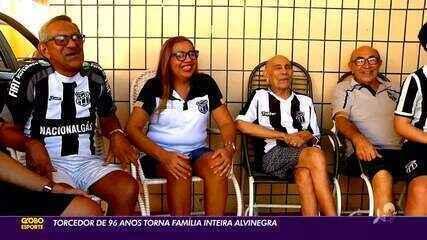 Torcedor de 96 anos torna família inteira alvinegra
