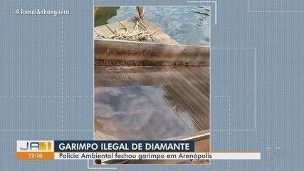 PM encontra garimpo de diamente irregular em Arenópolis