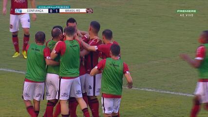Veja os gols do empate entre Confiança 1 x 1 Brasil de Pelotas