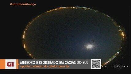 Observatório registra meteoro com luminosidade maior que a Lua em Caxias do Sul