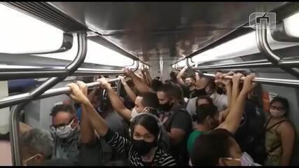 Metrô-DF: passageiros reclamam de superlotação após falha em rede de energia