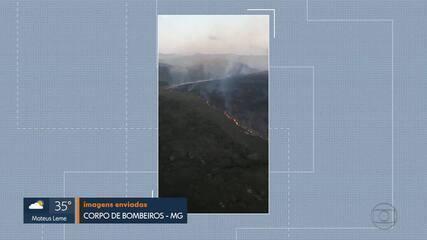 Combate a incêndio no Parque Nacional da Serra do Cipó entra no 6º dia