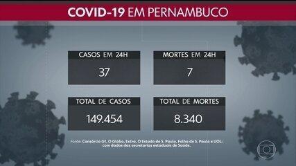 Total de mortes por Covid-19 em Pernambuco chega a 8.340