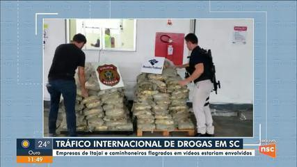 Empresas de Itajaí e caminhoneiros são alvos de ação contra tráfico internacional de droga