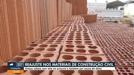 Preços do material de construção sobem por causa do dólar e alta procura