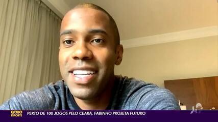 Com quase 100 jogos pelo Ceará, Fabinho projeta futuro