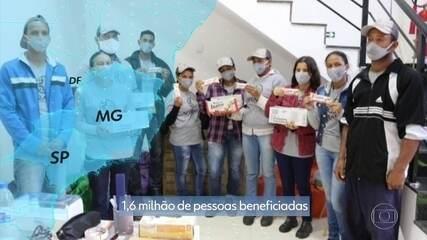 Solidariedade S/A: doação de doces a instituições filantrópicas