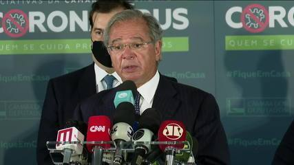 """""""Estamos juntos pelas reformas"""", diz Paulo Guedes"""