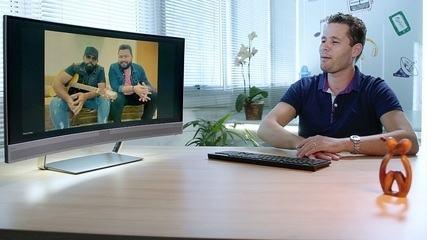Pedro Leonardo conversa com a dupla Diego e Arnaldo