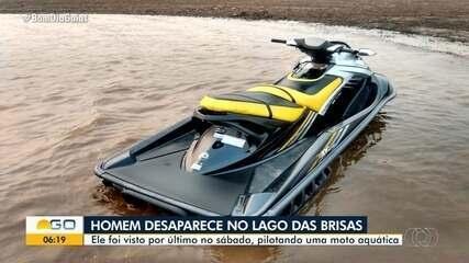 Jovem em moto aquática desaparece no Lago das Brisas, em Buriti Alegre