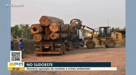 Operação no combate a crimes ambientais é realizada no sudoeste do Pará