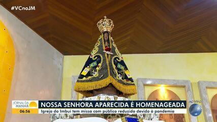 Católicos celebram o dia de Nossa Senhora Aparecida, padroeira do Brasil, em Salvdor