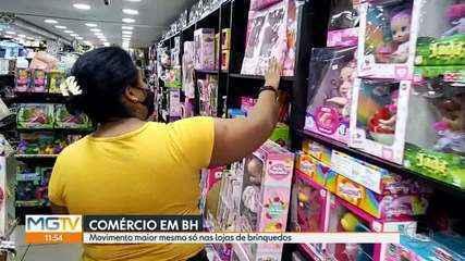Apenas lojas de brinquedos tem movimento em Belo Horizonte durante feriado