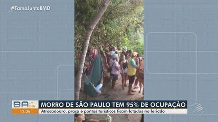 Hoteis e pousadas de Morro de SP atingem 95% de ocupação e tem aglomerações neste feriado