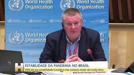 OMS diz que estabilidade da pandemia no Brasil é positiva mas números ainda são altos