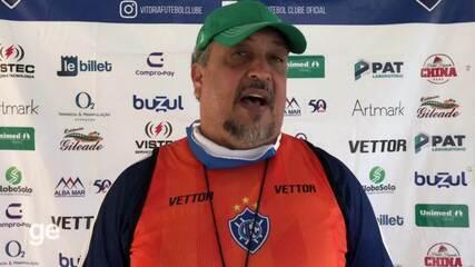 Técnico Charles de Almeida fala de pressão do Vitória-ES ganhar em casa
