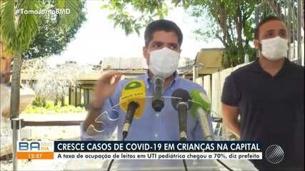 Salvador tem aumento do número de internações pediátricas causadas pelo coronavírus