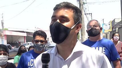 Candidato à Prefeitura de Mogi das Cruzes, Caio Cunha visita César de Sousa