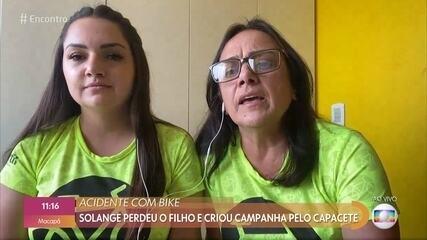 Solange cria campanha pelo uso do capacete após perder filho em acidente de bicicleta