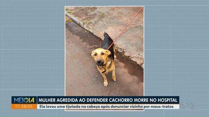 Mulher morre após ser agredida por defender cão de maus-tratos