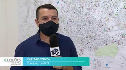 Candidato Capitão Souza (PRTB) fala sobre saúde para cidade de Taubaté