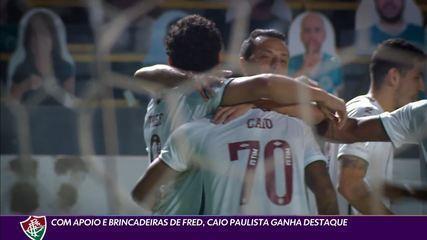 Com apoio de Fred, Caio Paulista ganha destaque no Flu após golaço contra o Atlético-MG