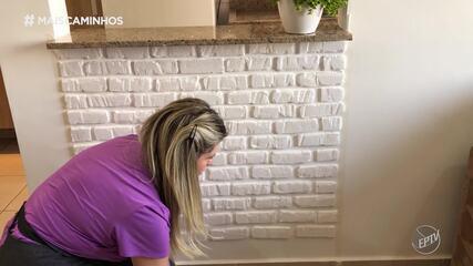 Faça em Casa: parede de tijolinho com isopor